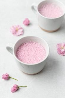 粉色樱花奶昔 粉色樱花奶昔大全精美图片