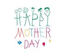 母亲节快乐英文字高清图片