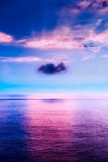 紫色黄昏唯美风景图片