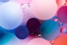 五颜六色圆形泡泡背景图片素材