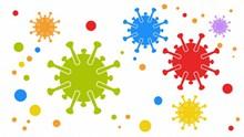 彩色卡通病毒细胞高清图