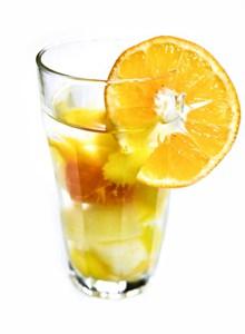 黄色柠檬冰茶高清图片