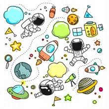 手绘太空元素卡通图片