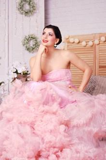 粉色婚纱写真图片大全