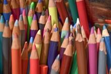 彩色铅笔笔尖高清图片