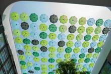 绿色雨伞天幕图片素材