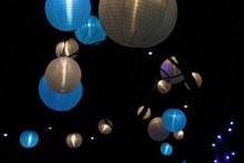 夜晚灯笼飞升高清图片