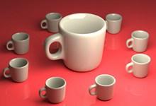 纯白色陶瓷水杯精美图片