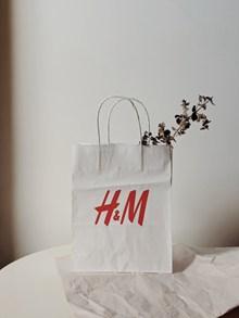 H&M白色环保纸袋图片