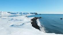 冰雪融化海岸高清图
