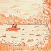 情侣游湖绘画图片大全