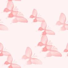 粉色梦幻蝴蝶背景图片下载