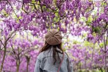 花季少女背影图片素材
