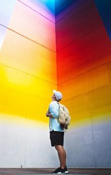 彩虹墙室内观光高清图