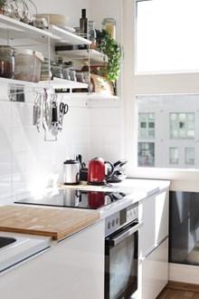 白色家居厨房高清图