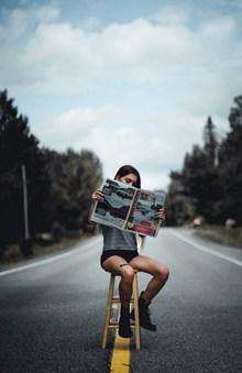 欧美人体模特户外写真图片素材