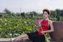 红肚兜亚洲美女写真图片