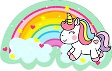 七色彩虹独角兽卡通高清图片