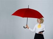 美女一个人撑伞图片下载