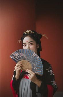 中国汉服美女写真图片素材