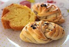芝麻烤卷面包高清图片