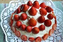 草莓奶油水果蛋糕图片下载