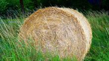 干草包近景特写图片素材