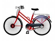 时尚卡通自行车图片素材