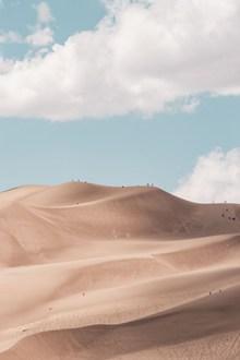 蓝天白云沙漠图片大全