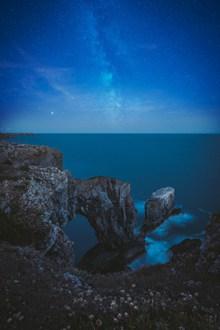 唯美海岸星空高清图片