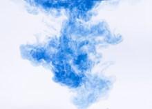 蓝色絮状水彩背景高清图片