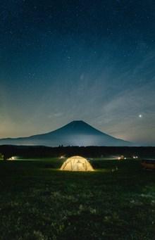 野外露营星空图片素材