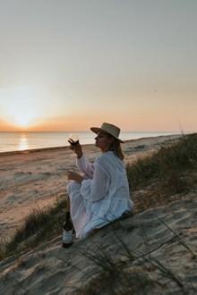 海边看日落图片下载