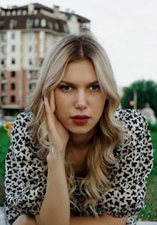 时尚欧洲美女写真图片素材