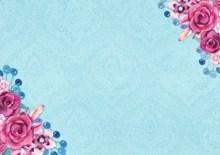 蓝色淡雅花纹花卉背景高清图