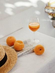 黄桃和水果茶高清图片