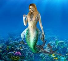 海底美人鱼图片素材