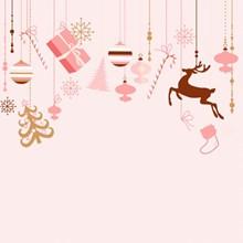 粉色圣诞节背景高清图