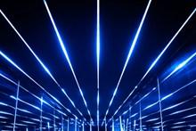蓝色灯光场景图片素材