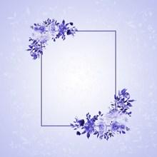 紫色边框淡雅背景高清图片