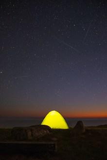 星空下露营高清图片