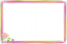 彩色边框背景图片