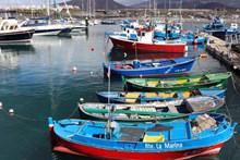 码头捕鱼船靠岸精美图片