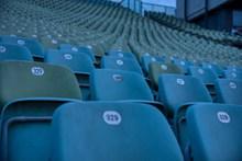 蓝色观众椅图片素材