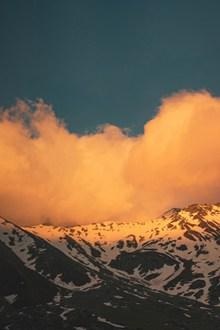 雪域高山风景高清图片