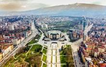 欧洲城市鸟瞰图图片素材