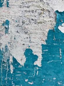蓝色掉漆墙壁图片大全