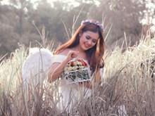 天使婚纱写真摄影图片素材