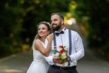 法国情侣婚纱照高清图