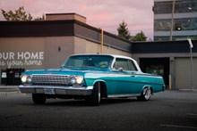 外国复古蓝小轿车图片大全